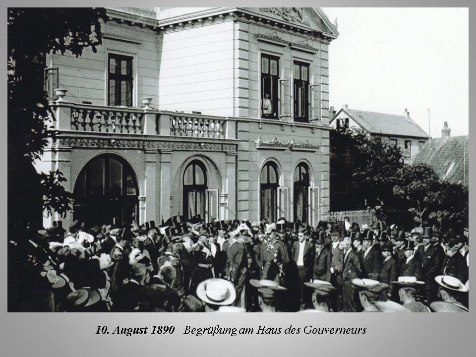 Begrüßung im Haus des Governeurs