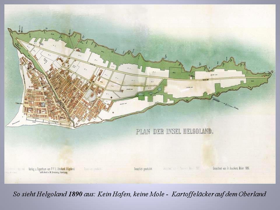 Helgoland 1890: kein Hafen, keine Mole