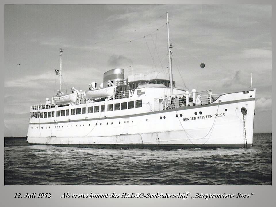 Seebäderschiff BÜRGERMEISTER ROSS